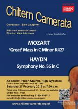 The Chiltern Camerata performs choral and orchestral music by Mozart and Haydn