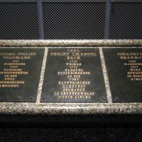 Telemann, C.P.E. Bach and Brahms plaques