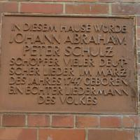 Johann Abraham Peter Schulz plaque