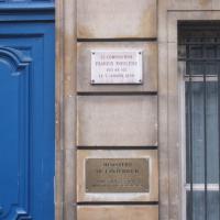 Poulenc birthplace plaque