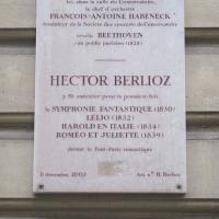 Berlioz plaque